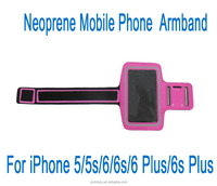 promotional gift armband neoprene Mobile Cell Phone Case for iPhone 6 6s 5 5s