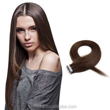 2017 100% human hair silky straight wave european remy tape hair extensions