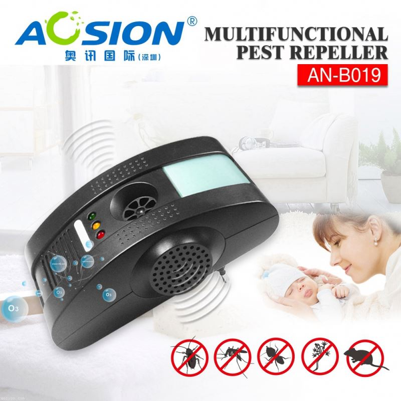 Aosion Sample available electromagetic + anion + ultrasonic + night light home pest control for mouse rat bug fly