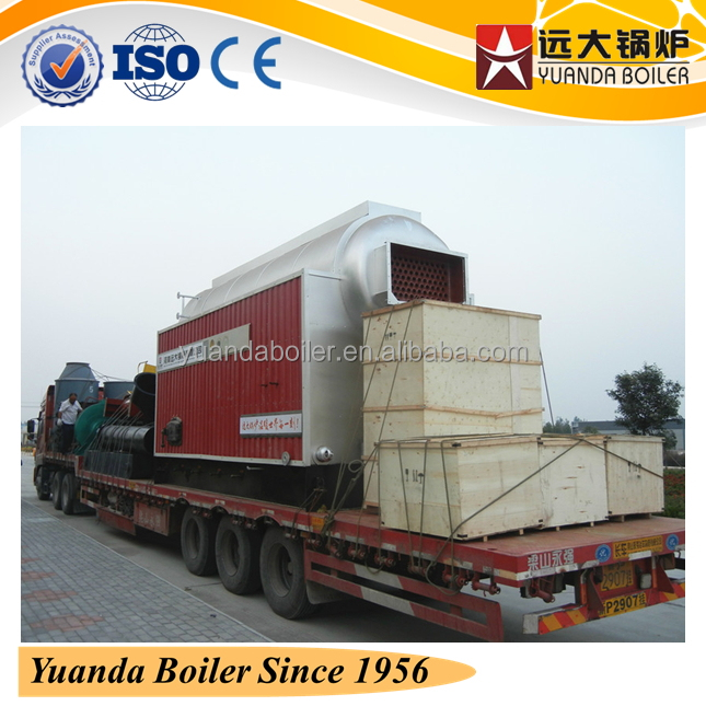 low fuel&power consumption biomass central boiler for central heating