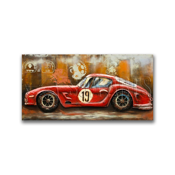 Cool Recycle Car 3D Wall Decor
