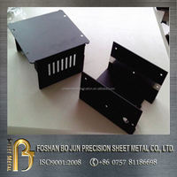 High precision casting CNC machinery powder coated black enclosure chassis for sale