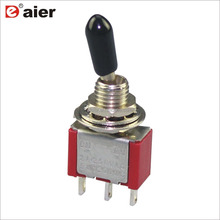 6MM SPDT <strong>3</strong> Pin ON-ON Mini Toggle Switch 3A 250VAC 6A 125VAC KNX