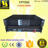 FP7000 High Quality Professional 2 Channels Bass Power Amplifiers
