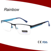 Latest spectacle optical frame for man with spring hinge manufacture in China directly