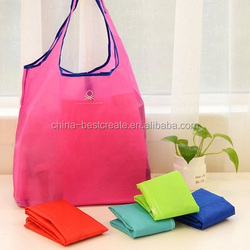 Custom Waterproof polyester foldable tote bags shopping bags