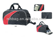 plain weekend travel bag with shoes compartment