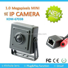 TOP SELL ! Cheap 1MP 720P HD P2P ONVIF CMOS Mini Pinhole IP Camera for ATM Plug and Play, Easy install