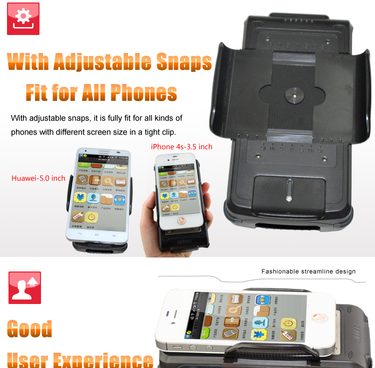 2014 NEW Portable Android Bluetooth 1D 2D Barcode + Handheld RFID Reader for Phone