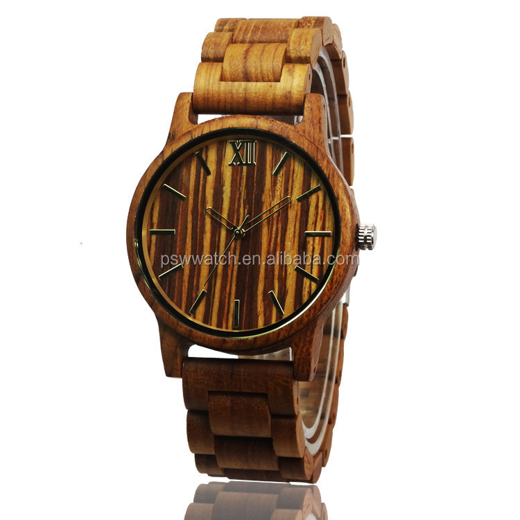 Low moq fashion vogue watch men's fashion wooden wrist watch