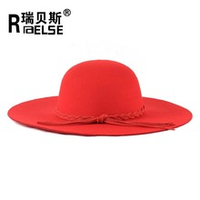 fashion cheap beach beautiful wholesale lady floppy wool felt hats