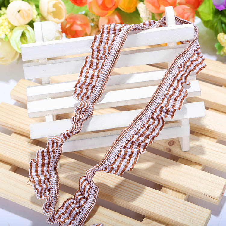 Wholesale custom lace stretch ribbon/elastic fabric cloth ribbon