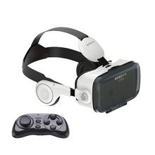 VR Z4 Virtual Reality 3D Video Glasses with Build-in Stereo Headphones Remote Controller via 4~6'' Android iOS Smartphones