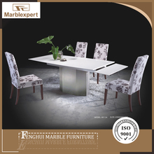 Cheap crystal white extending marble modern dining tables for sale