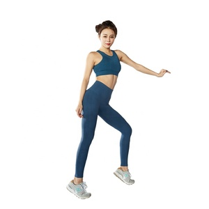 Ptsports Simple seamless knitting high waist fitness yoga high stretch leggings for ladies