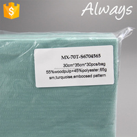 JW-3 Turquoise Cellulose /PET High Performance Premium Quality Cleaning Roll Wipes