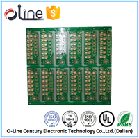 Thermoelectric generator multilayer plain circuit board