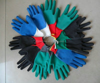 10G T/C Yarn 5 thread cotton gloves rubber coated