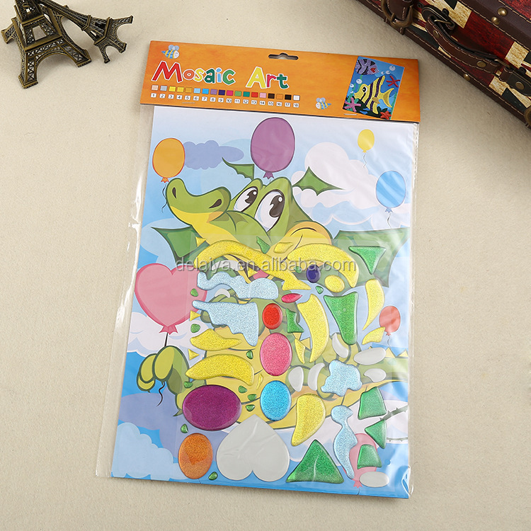 DIY educational toys epoxy sticker collage art for kids