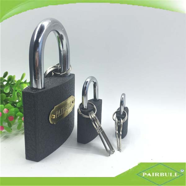 Safety iron gate door lock Grey iron padlock