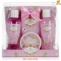 bath foam shower gel spa set