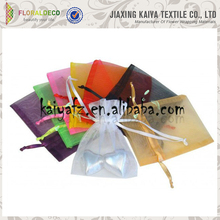 Great material new design cheap organza silk gift bags