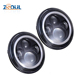 "Original 7 inch round RGB halo Car Led headlight 45W changeable color wireless Bluetooth Control 7"" headlight for Jeep"