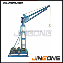 Portable lifting mini crane / small construction outdoor lift crane manufacturer