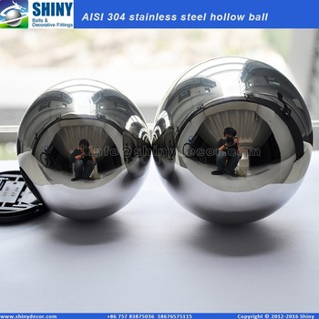 "4"" Mirror polished metal hollow ball"