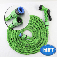 Cheap Price and Products Working Length About 15 M Plastic Connector 50FT Blue Garden Water Hose+Spray Gun EU