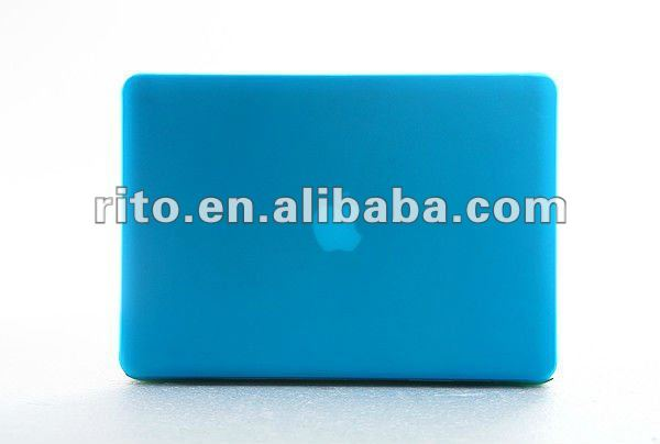 "New Style of Sky Blue Color Rubberized Matte Case for Mac Air 11"", OEM is Preferred"