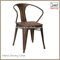 Hot sale garden chair metal back vintage chair for restaurant