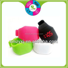 attractive silicone digital touch screen led watch