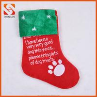 Christmas Home Decoration Velvet Xmas Pet Stockings for Dogs
