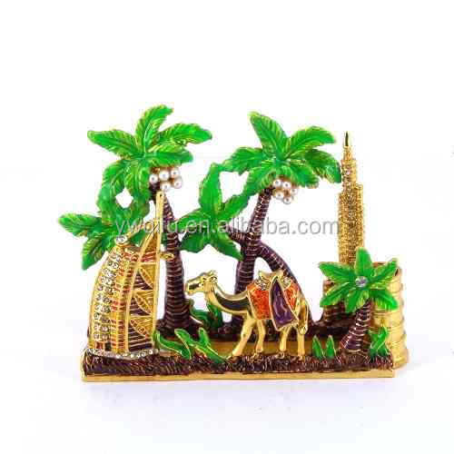 2015 China Manufacture enamel camel shaped trinket box dubai souvenir for decoration(QF3778)