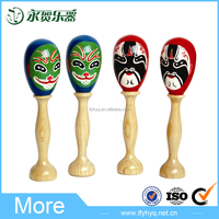 Traditional chinese beijing face wooden maracas musical instrument wholesale