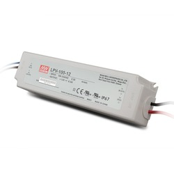 MeanWell LPV-100-12 100W 12V Waterproof IP67 UL CE LED Driver