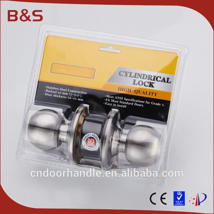 SS knob locks for interior and exterior lockset door handle manufacturer