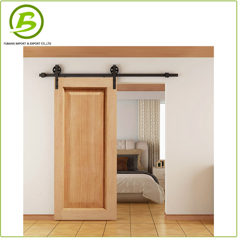 Mould door panel with sliding barn door hardware