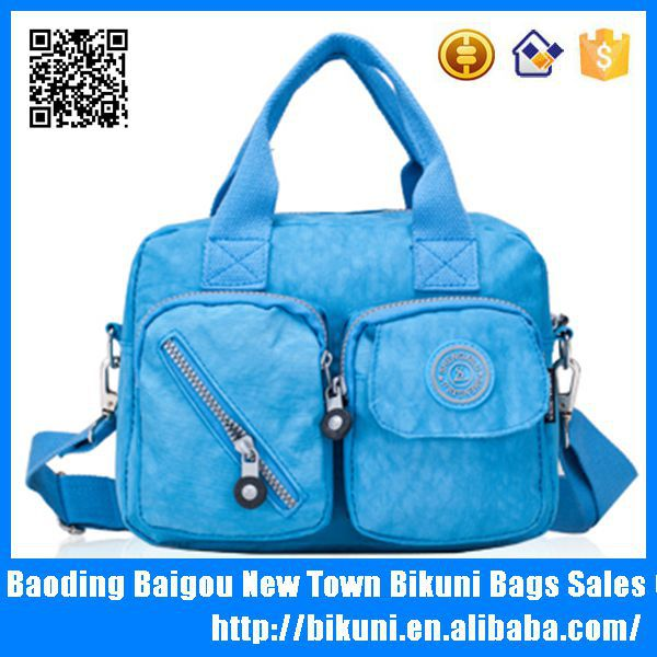 Hot Selling Bright color Washed Nylon tote Diaper Bags for women