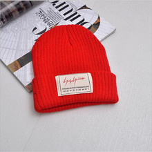 Lightning letter stickers Knit <strong>Hat</strong> for Women Men Knitted <strong>Hats</strong> Spring Autumn Winter Beanies