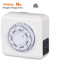 USA, US time switch, indoor 1-outlet mechanical weekly random socket