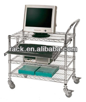 12L- Zhong Shan Factory 3 Tier Computer Mobile Utility Cart,NSF Approval