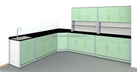 Professional Laboratory Furnitures Chemistry Storage Cabinet Wall UNits