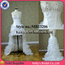 A special short or long wedding dress crystal bodice 2014