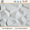 Decorative Vinyl Wallpanel White Wine Ball Embossed 3D PVC Wall Panel
