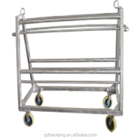 Cattle abattoir equipment machinery idle-hooks transportation trolley