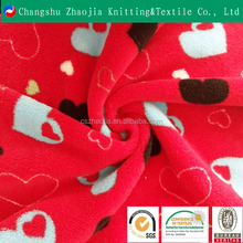 High quality knitted warm heart super soft fleece fabric