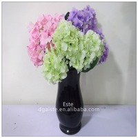 wholesale artificial hydrangea flowers silk petals for wedding decoration