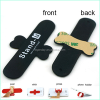 Logo Printed Silicone Sticky Multipurpose Mobile Phone Holder For Promotion